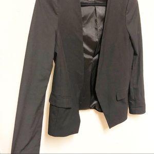 Zara Jackets & Coats - Zara Black Fitted Open-front Sleek Blazer
